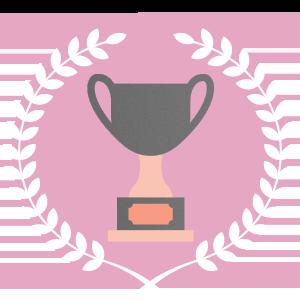 Imagem de um troféu representando os resultados esperados ao usar um aplicativo em eventos
