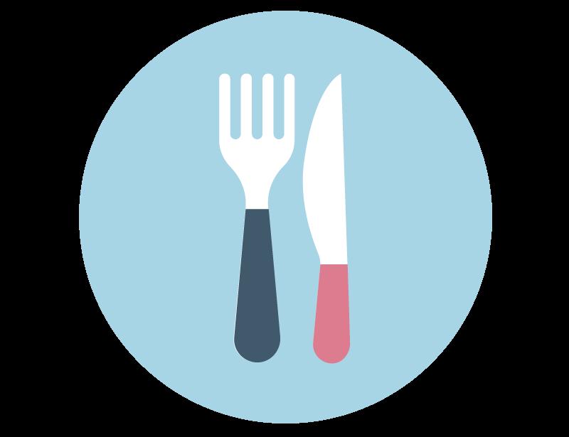 imagem representando um garfo e uma faca