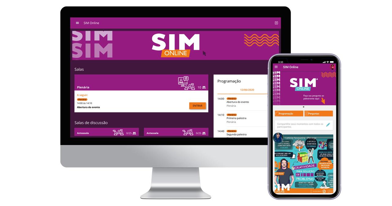Ambiente Virtual e Aplicativo Evento SIM